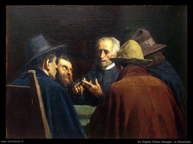 Giuseppe Pellizza da Volpedo (1868-1907). Italian painter. la_discussione