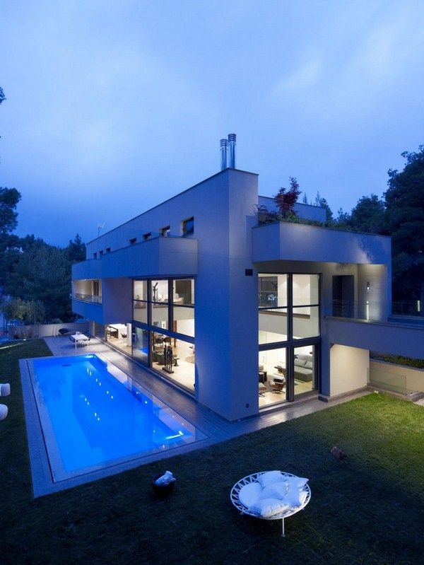 Luxus Haus In Dionysos Architektur Design