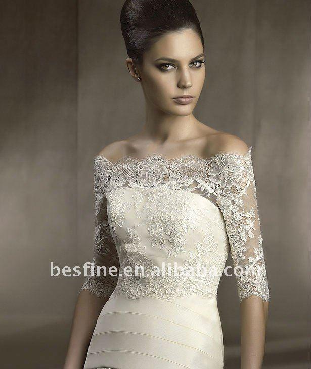 La114 ivory bridal bolero lace jacket products buy la114 for Bolero jacket for wedding dress