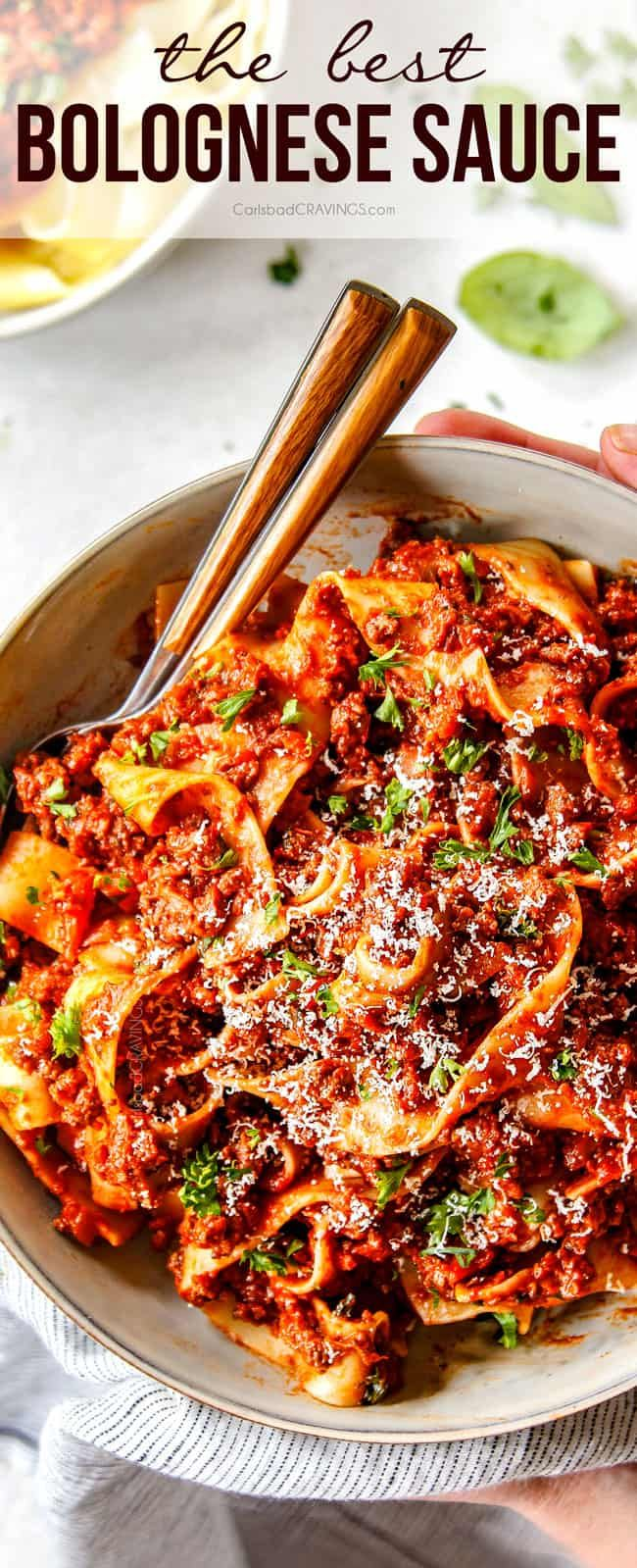 Jan 18, 2020 - Everyone needs the BEST Bolognese Sauce in their recipe repertoire and this is it! This Bolognese recipe is rich, hearty and exploding with complex layers of flavor BUT is on your table in less than one hour and most of that time is hands-off simmering! #bolognese #italianfood #pasta #pastarecipes #dinner #recipes #recipeoftheday #recipesfordinner #dinnerrecipes #dinnerideas
