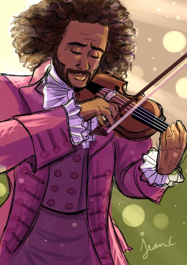 Hamilton: He Plays the Violin ~ I love 1776 and Hamilton cross references! Jean C. - a.k.a. With Skechers - did an amazing job with this, so go check out her Deviant Art page, and her Tumblr, too! http://withskechers.deviantart.com/art/Hamilton-He-plays-the-violin-617614743