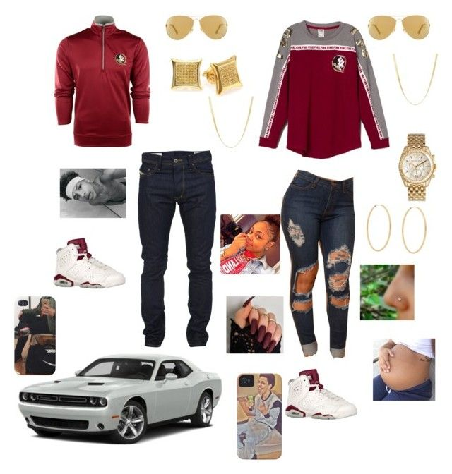"""FSU game with bae"" by meechiewifeyy ❤ liked on Polyvore featuring Antigua, Diesel, Michael Kors and Loren Stewart"