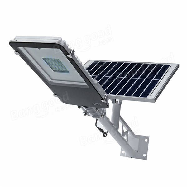 50w 96led 1000lm Solar Powered Light Sensor Street Light With Rmote Control Waterproof Outdoor Light Temperatura Del Color Paneles Solares Colores Claros