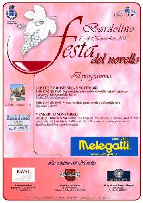 Festa del Novello 7 e 8 Novembre Bardolino (VR) 2015