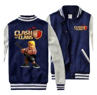 Clash of Clans mens camisolas legal jaquetas de baseball bárbaras Plus Size