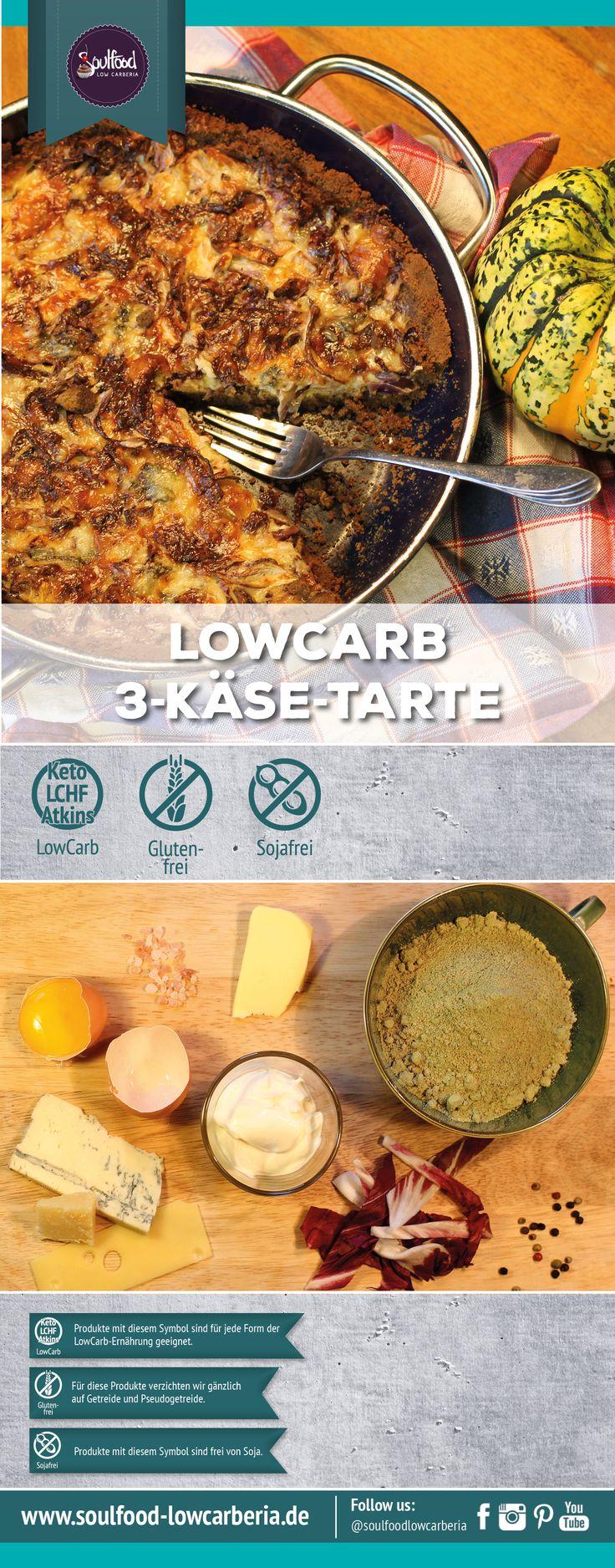 Leckere Tarte mit #Emmentaler, #Gorgonzola und #Parmesan auf einem deftigen #Mürbteig aus #Kürbiskernmehl. Delicious Tarte with Emmentaler, Parmesan and #Bluecheese combinated with a pumpkinseed-flour shortcrust. #pumpkin #soulfoodlowcarberia #lowcarb #healthy #atkins #LCHF #Logi #lowcarbdiet #realfood #zuckerfrei #glutenfrei #glutenfree #sugarfree #soulfoodlowcarberiafoodblog #foodporn #keto #ketogenic #diet #abnehmen #lowcarbhighfat #cleaneating #nosugar #flourless #grainfree #foodblog…