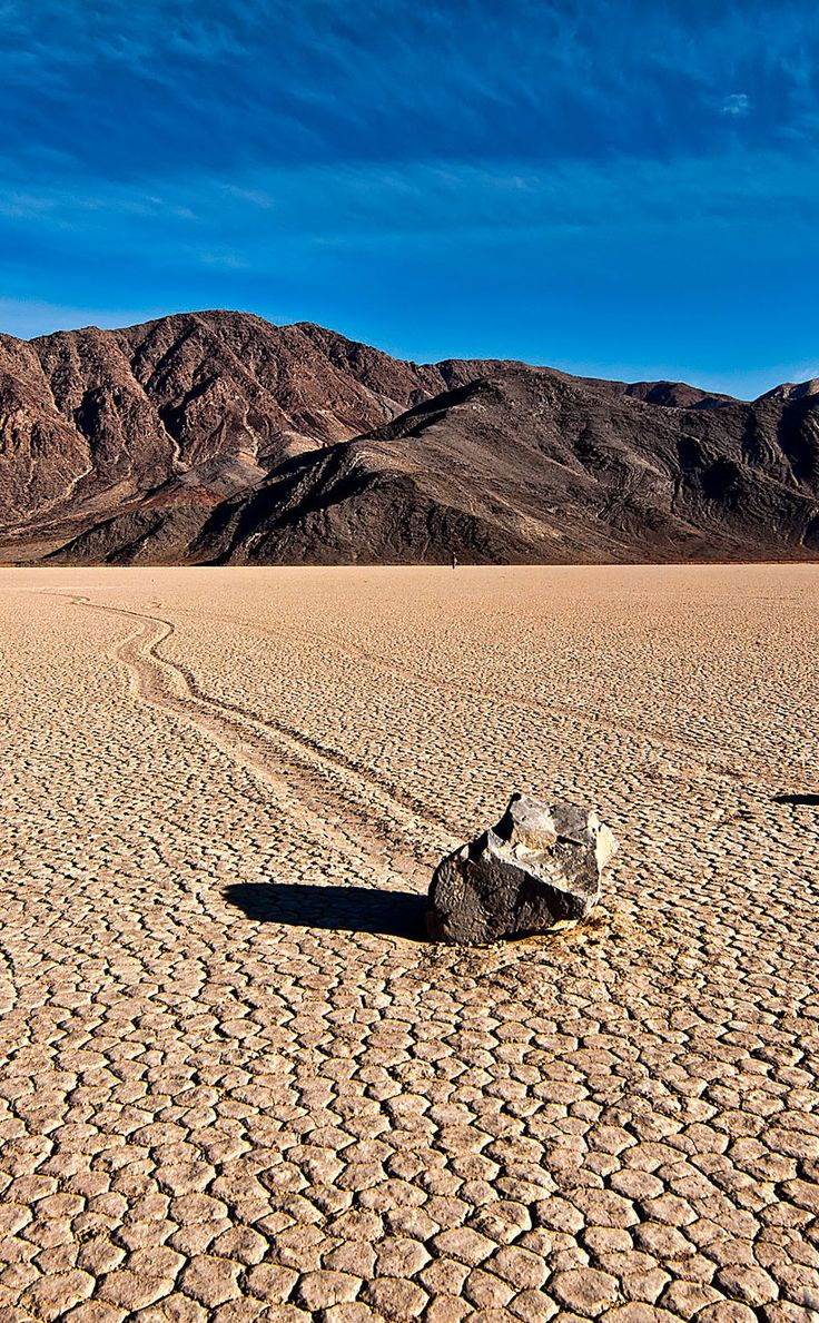 Mysterious Sailing Stones - California - Stones move through this valley on their own and even change direction. Pretty cool!