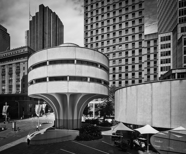 Commercial Travellers' Association (MLC Centre) in Sydney, Australia. Circa 1972-75. Architect: Harry Seidler.