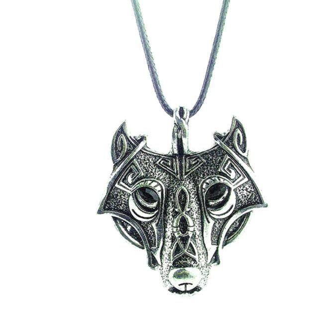 1 pcs de alta qualidade LEGAL do Estilo Nórdico Vikings Pingente Colar Norse Animal Da Cabeça do Lobo Colar Original Jóias Lobo Cabeça hange