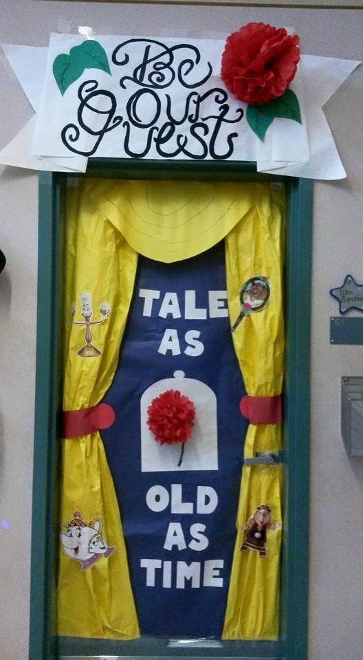 5th grade door--favorite movie theme=--Beauty and the ...