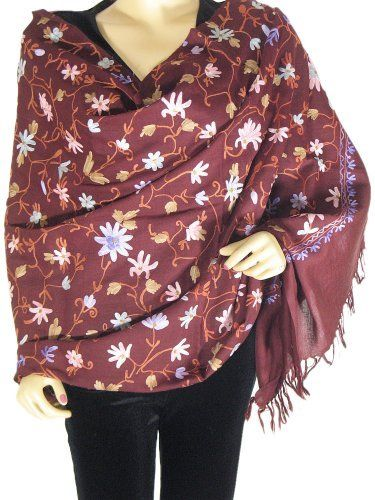 how to wear a off centre shawl
