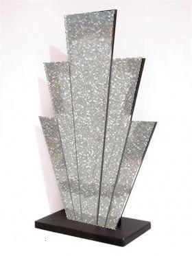 1920s Party Theme | Art Deco Party Props | Roaring Twenties Party Ideas: Art Deco Starburst Prop (Silver Glitter)