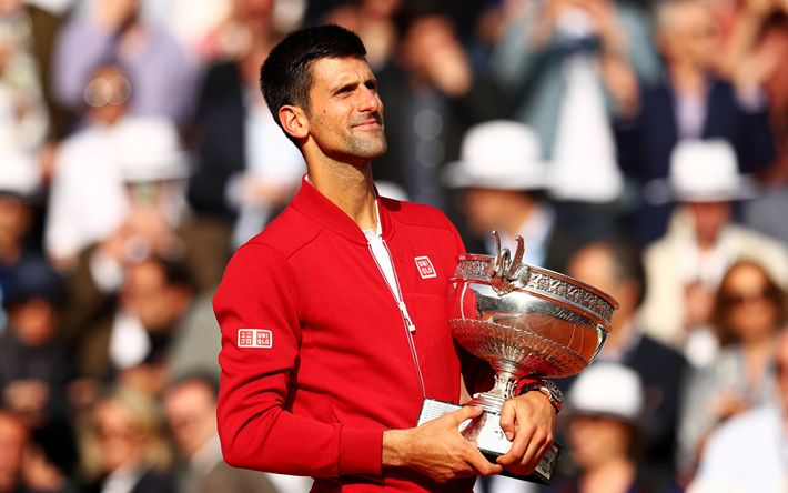 Scarica sfondi Novak Djokovic (ATP, Tennis, Roland Garros, serbo giocatore di tennis