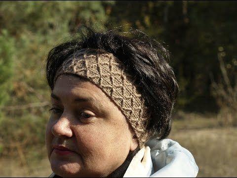 Оригинальная  повязка на голову - Crocheted headband (узор#80) - YouTube