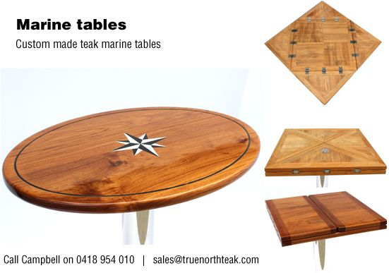 custom made teak marine tables boat tables pinterest