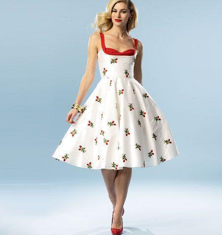 Plus size dress 50 s style 54