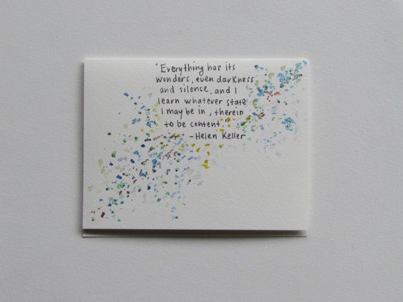 Helen Keller Quote Greeting Card by AnnaJaynesDesigns on Etsy, $3.95