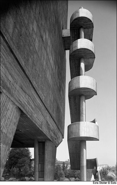 Esto Gallery: Staircases, including works by Le Corbusier, Bernard Tschumi, and more.