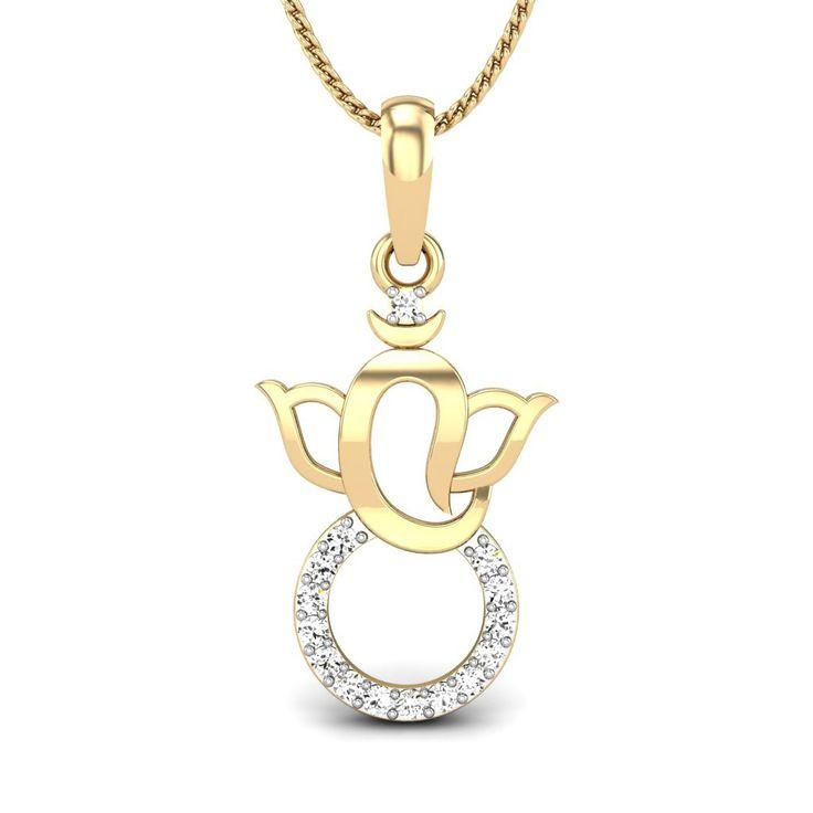 Minimalistic Ganesha Pendant