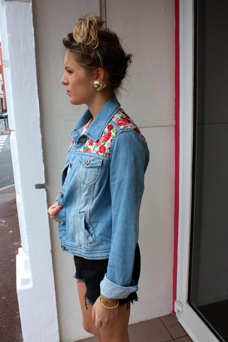 7 best id es veste en jean 39 s images on pinterest diy bulletproof vest and custom clothes. Black Bedroom Furniture Sets. Home Design Ideas