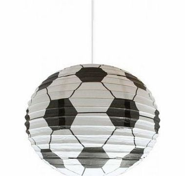 Spearmark Football Light Shade (Paper Lantern Bedroom Lamp) Perfect gift for any football fan.Circular shaped football design paper light shade suitable for any room.Easy to hang and fit (Barcode EAN = 0700175842817) http://www.comparestoreprices.co.uk/lantern-lights/spearmark-football-light-shade-paper-lantern-bedroom-lamp-.asp