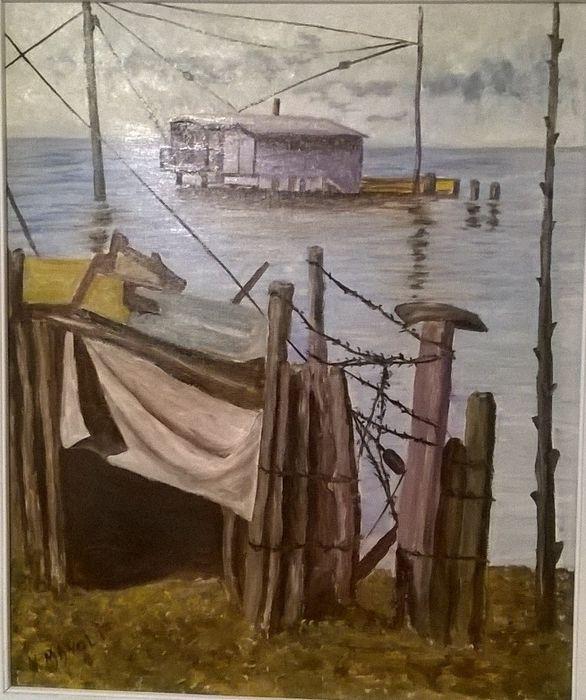 Catawiki, pagina di aste on line  Nino Manoli - Capanni di pesca