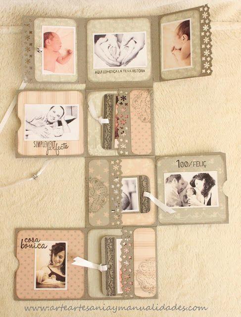 Arte, Artesania y Manualidades: Mini álbum fold scrapbooking 'Sweet Baby'