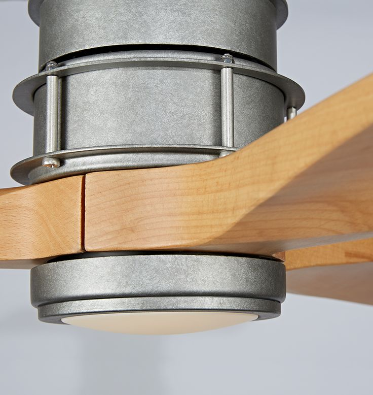 With a sleek propeller design and slim profile, our Falcon Semi-Flush LED Ceiling Fan finds an easy home in both small rooms and wide-open spaces. It shows off its versatility with a variety of fan body, blade, and light-kit combinations to offer a sophisticated and refreshing burst of style to any room design.  * Steel body; wood blades * 6 speeds with reversible motor (DC-125S) * 17W dimmable LED light outputs 1300 lumens with 3000K color temperature and a CRI of 80 * Remote control…