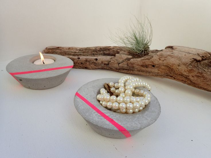 Products - JINKS CREATIONS neon pink and pearls with concrete awesome combination!!