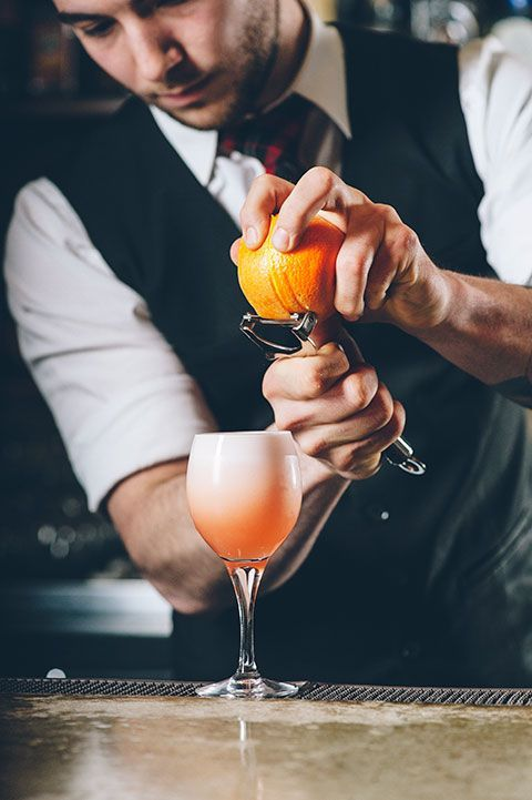 This bartender really shows his care for details. The cocktail looks great! #bartender #care #details #cocktail #great