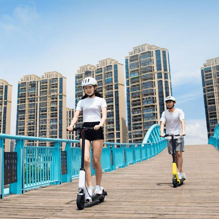 Xiaomi QiCYCLE EUNI ES808 Standard Version Foldable Electric Scooter 20 km/h Max. Speed 20km Long Life 250W Sale - Banggood.com