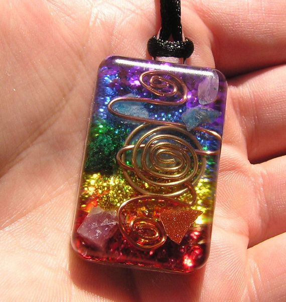 Jewelry Pagan Wicca Witch:  7 Chakras Activation Healing Orgone #Pendant, by mysticrocksorgone.