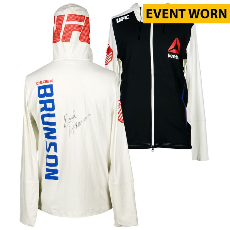 Derek Brunson Ultimate Fighting Championship Fanatics Authentic Autographed UFC Fight Night: Cowboy vs. Cowboy Event-Worn Walkout Hoodie - Defeated Roan Carneiro via First Round TKO