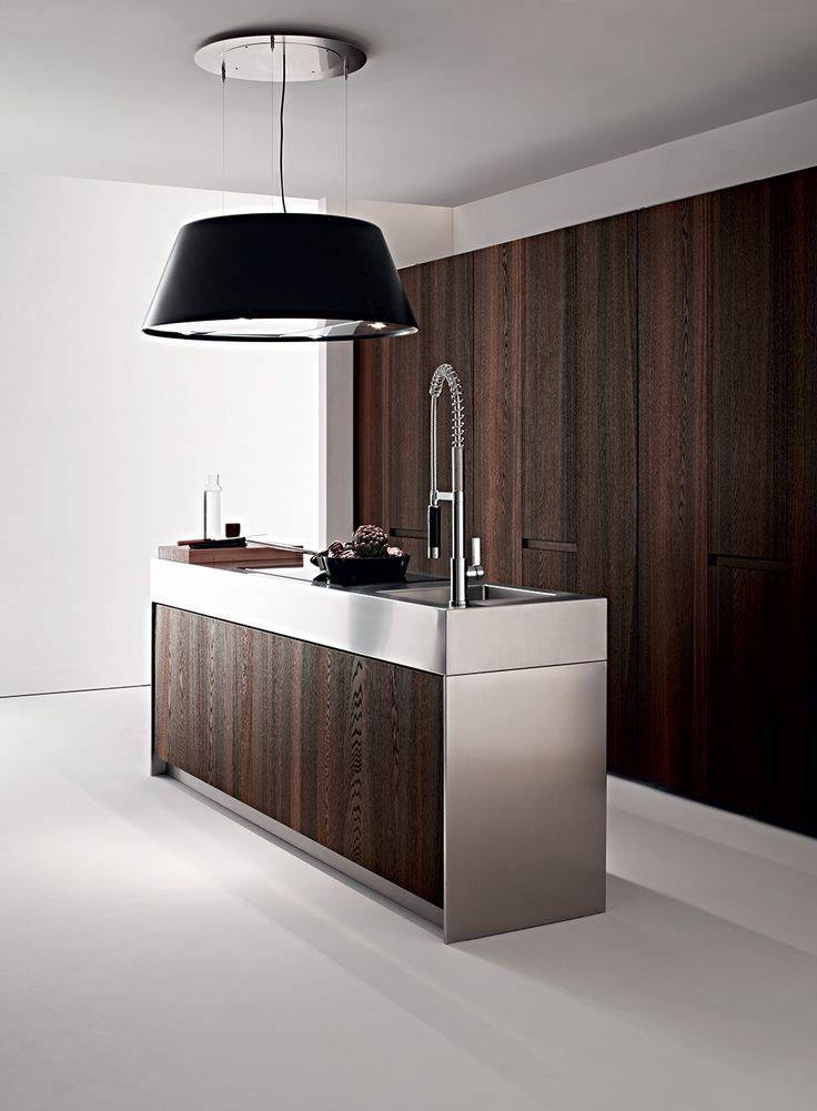 Best Cocinas Images On Pinterest Balcony Black White - Contemporary kitchen with modular work island el_01 by elmar