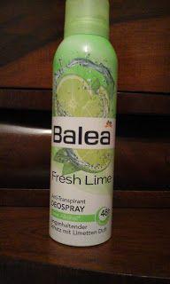 Cosmetics & Life: Review: Antiperspirant Balea Fresh Lime