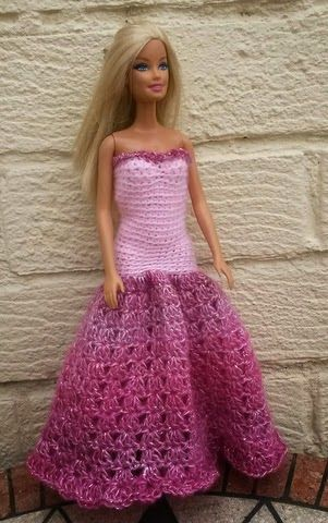 Lyn's Dolls Clothes: Barbie crochet prom dresses