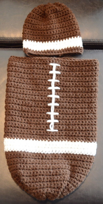 Football Baby Cocoon by KellysKrazyKrafts on Etsy, $35.00