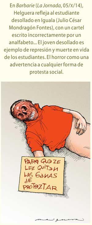 Ayotzinapa en la caricatura política