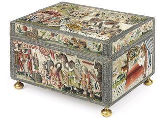 A magnificent Charles II needlework casket. Estimate £150,000-£300,000