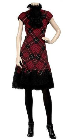 Alexander McQueen - Spring 2007 Collection.  The diagonal cut of the tartan really defines the way the dress flows.