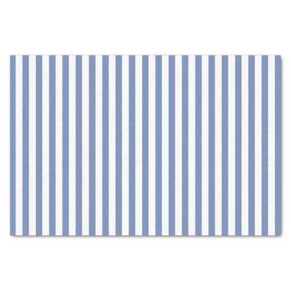 Simple Blue And White Stripes Geometric Pattern Tissue Paper In