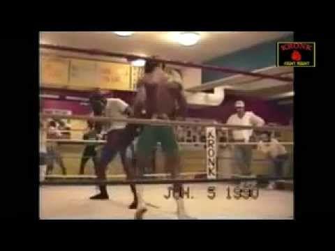 Kronk Sparring 1990.  James Toney vs. Gerald Mcclellan