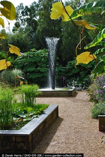 Water feature in the Sunken Garden at East Ruston Old Vicarage Garden
