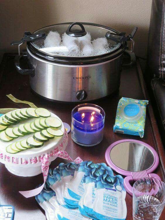 Mask party set up idea.                                                                                                                                                                                 More