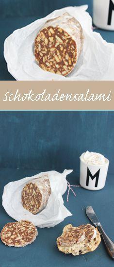 Schokoladen Salami. Ein tolles Rezept für Kinder. Ohne Backen – #Backen #ein #f…