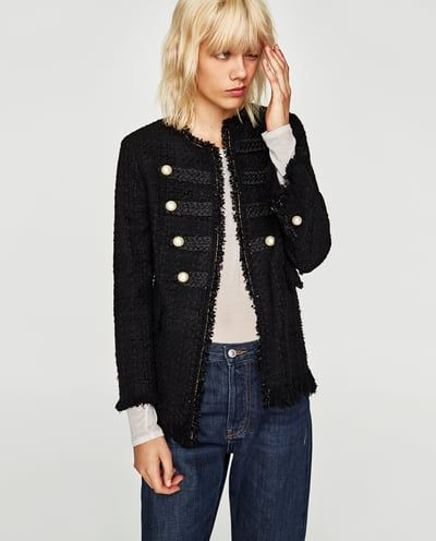 JACKET WITH PEARL BUTTONS-BLAZERS-WOMAN | ZARA United States