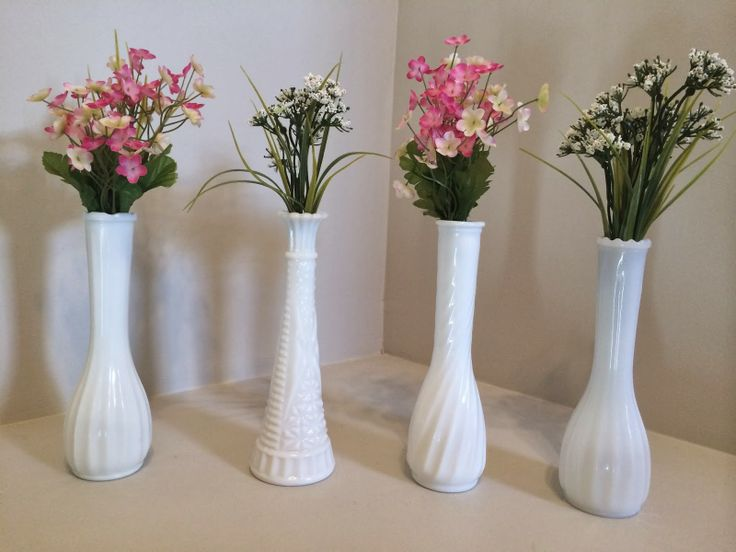 How to Add Vintage Elements to Your Home - vintage milk glass spring decor