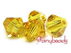 Swarovski Crystal Elements 5328 Xilion Bicones 4mm - Sunflower