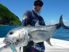 Sean Farmer, Glen Farmer and Rob Sippl recently returned for their second time fishing with Ocean Blue along with Glen Vitaljich to take on some of Vanuatu's extreme species. www.oceanbluefishing.com