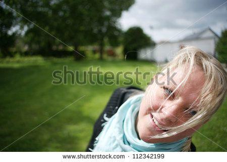 Closeup Of A Female In A Park Lagerfoto 112342199 : Shutterstock